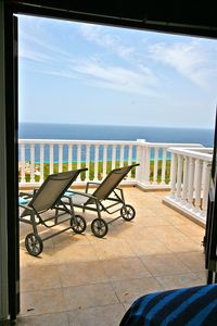 Curacao villa rental - French doors to Pool Deck (Master Bedroom)