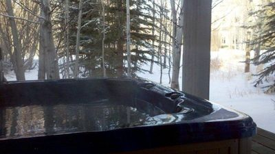 Outdoor Hottub for apres ski...