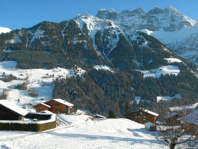 Val-d'Illiez apartment rental - The view from the balcony in winter