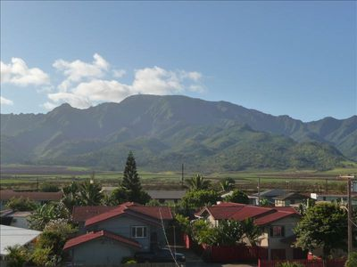 Mt. Ka'ala as seen from back balcony.