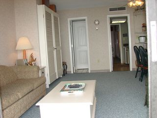 Ocean Dunes condo photo - Living Room, Murphy Bed on left wall