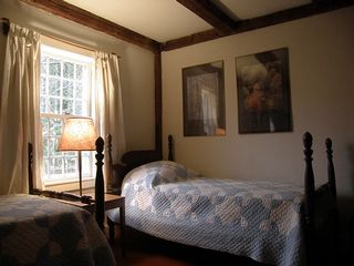 Wardsboro farmhouse photo - twin bedroom 1