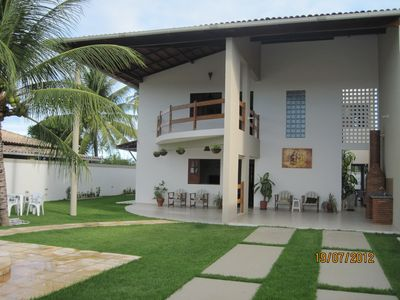 Townhouse on the beach of Ipioca with pool overlooking the sea.