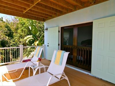 Coral Bay villa rental - Lower deck.