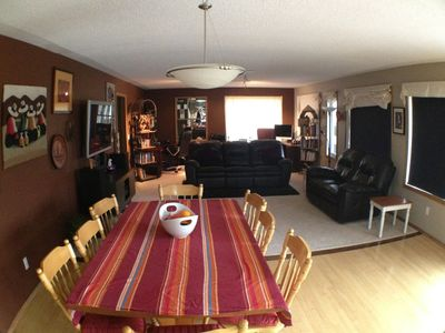 Nice open living area with 52' TV