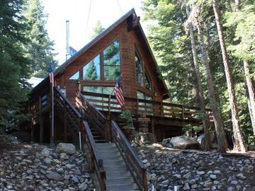 Chambers Landing chalet rental - front view of this ideal Chamber Chalet
