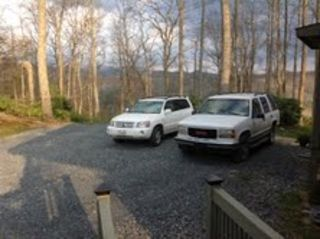 Blowing Rock cottage photo - Plenty of level parking; only steps up onto the porch.