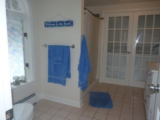 Ogunquit house photo - renovated, first floor bathroom with washer/dryer