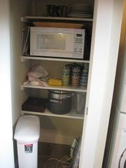 Georgetown apartment photo - Pantry with Microwave
