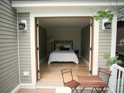 First floor guest suite with deck
