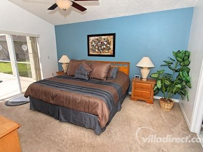 Star Lake View Paradies Orlando - Schlafzimmer mit King Size Bett
