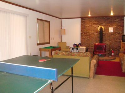 RECREATION ROOM WITH FULL SIZED PING PONG TABLE