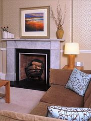 Edinburgh apartment photo - Fireplace in lounge