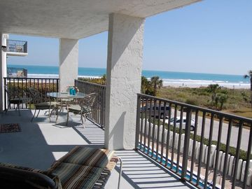 27' Private balcony gets sun all day long. One of the best ocean views in resort