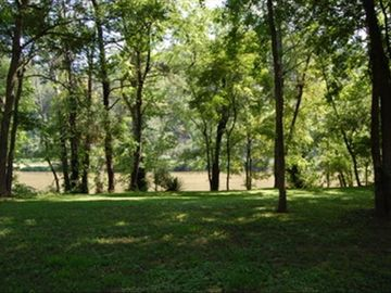 View of the lawn and French Broad River