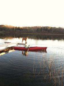 The fall is great for kayaking and hiking on the trails around the lake.