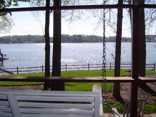 Lake Norman cottage photo - View from Screened-In Porch