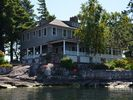 Alexandria Bay cottage photo - Twin Oaks on Schooner Island - Facing Channel and Canada