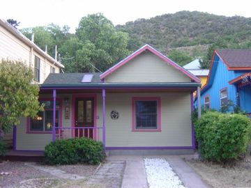 Bisbee house rental - Above and Beyond Rentals - Front House with hard to find off-street parking.