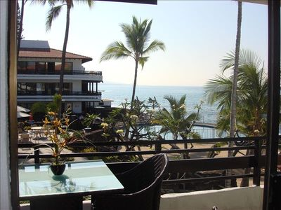 Beautiful Casa B,#237 From Lanai you looking out to forever view of the ocean.