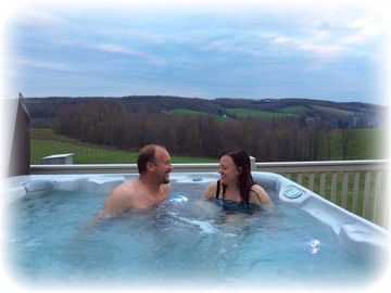Berlin apartment rental - The new hot tub on the deck of the loft!
