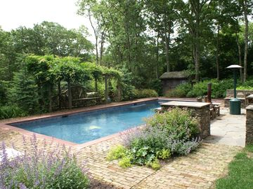 Sag Harbor house rental - Lush private gardens overlooking greenbelt