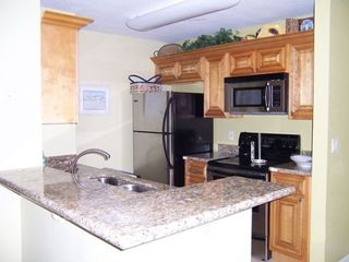 Kitchen Area with Granite Counters