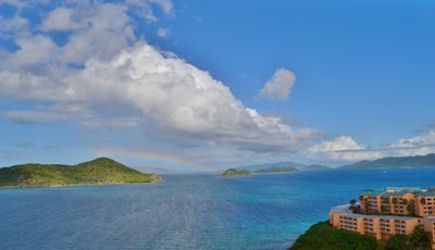 Um, yes, this is a rainbow we spotted from our balcony. Perfection.