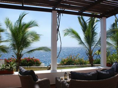 Curacao house rental - Terrace at the sea