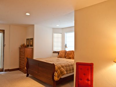 Edwards house rental - Bedroom #2 with King bed and sitting area. Room for a crib!