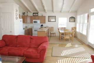 Oak Island house photo - Living and dining