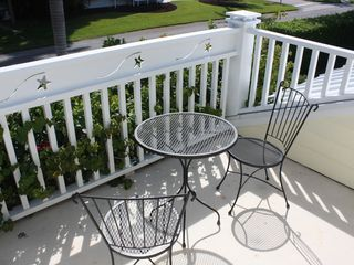Old Naples house photo - Private guest balcony is great for sunrise or to enjoy Naples' famous parades.