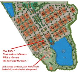 Villas at Seven Dwarfs Lane townhome photo - Site plan; situation of our house, next to pool