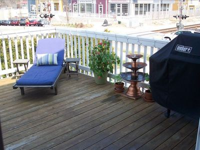 New Buffalo townhome rental - Family Room Deck (B)
