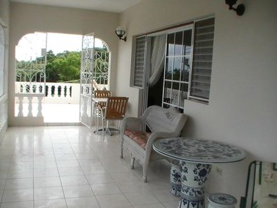 Ocho Rios house rental - Large balcony area - first floor