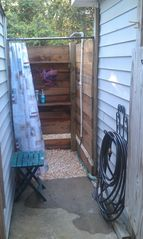 Oak Island house photo - The outdoor shower for cooling off after a day at the beach