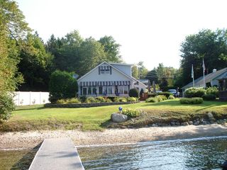 Beech Hill Pond house photo - View looking back at the house from the dock