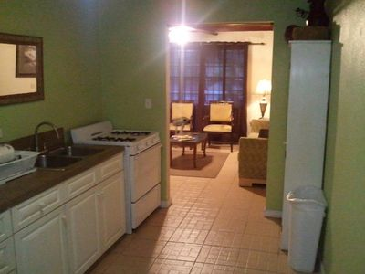 Nassau & Paradise Island condo rental - Kitchen and Living Room