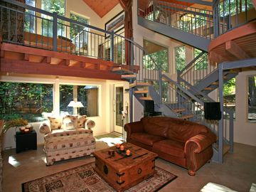 Interior is Lofty with Views All Around
