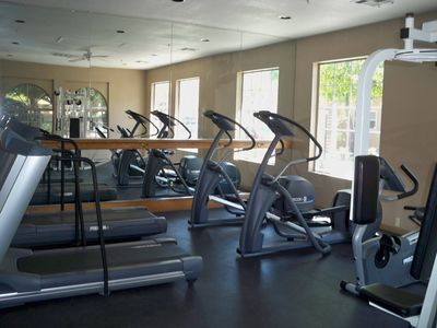 Air conditioned private fitness area