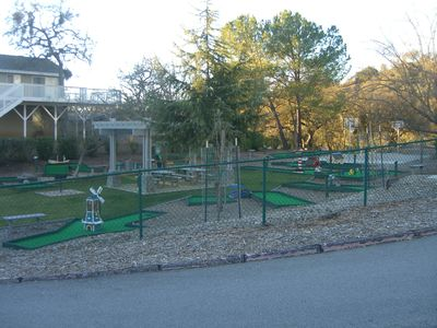 Miniature Golf and basketball court
