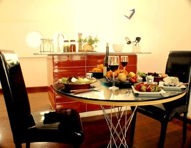 Valletta apartment rental - San Angelopenthouse dining area