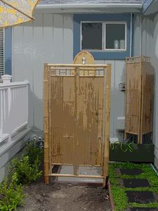 Hot & cold outdoor shower