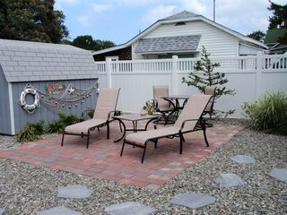 Cape May house photo - Back yard paver patio near pool