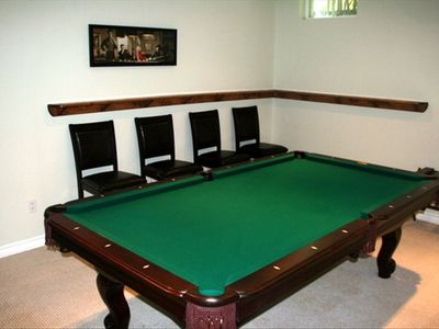 Pool table in rec room