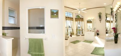 View inside the exclusive master bath
