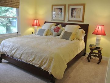 Master Suite. Cal King with dreamy 18' mattress will make you want to stay. UL