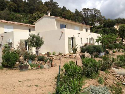 Porto Vecchio Sotta ground conditioned garden of 120 m² 6/10 pers stunning views of sea and mountains