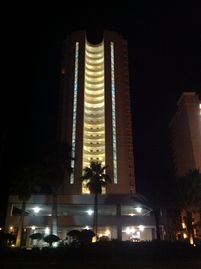 Gulf Shores condo rental - Night View Streetside Entrance