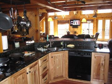 Custom gourmet kitchen